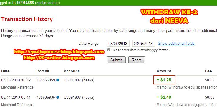 Pembayaran ke-2 dari Neeva Ltd