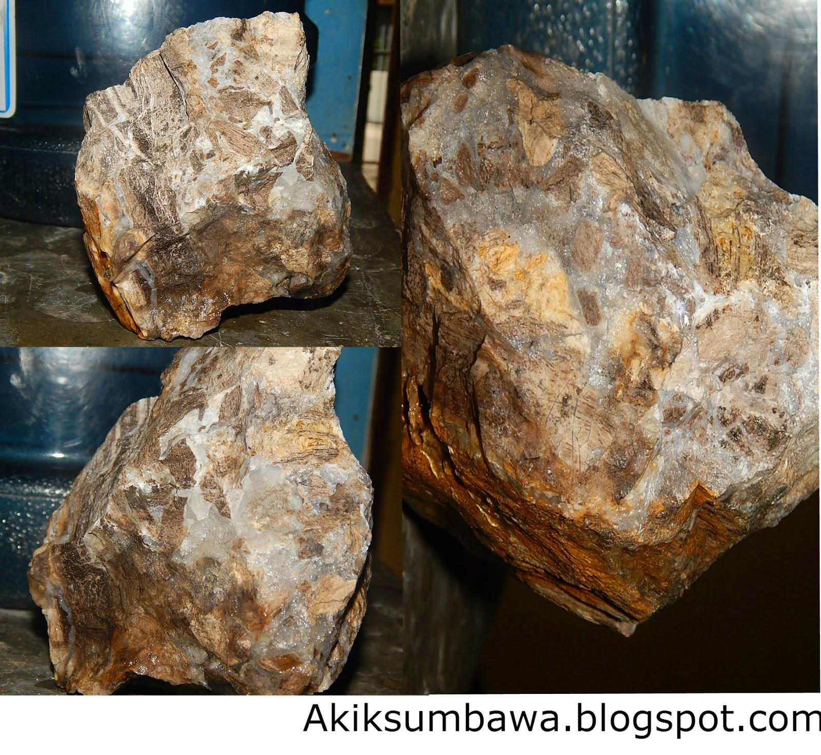 Bongkahan Fozil Kristal