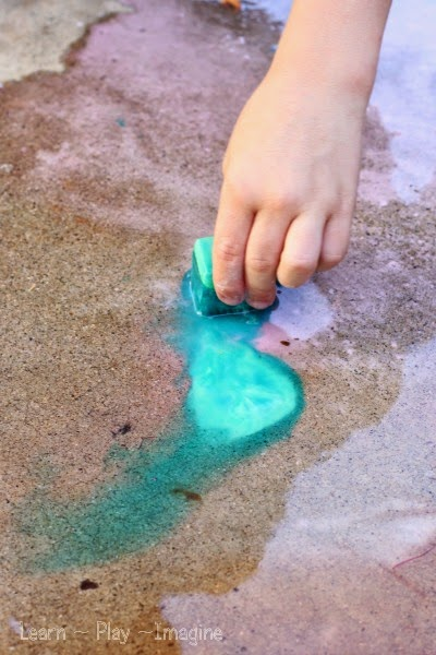 Erupting ice chalk paint recipe