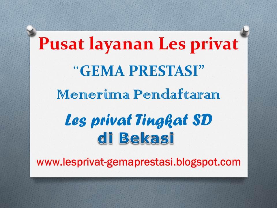 Harga/Biaya Les Privat SD di Bekasi Hub 081314593361