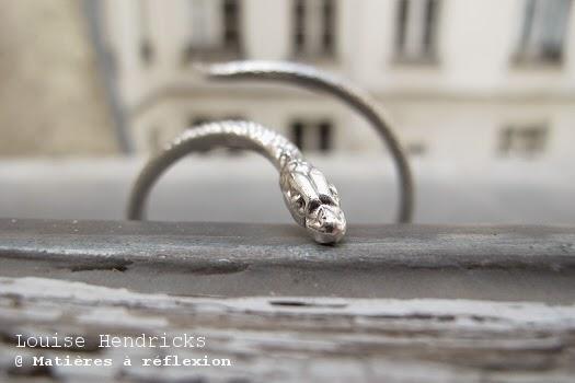 bijoux serpent manchette Bracelet jonc argenté Louise Hendricks bijoux argent