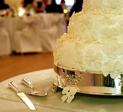 the delivery and setup charge in the base price for any wedding cake if