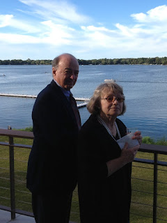 Dad and Mom at Gene and Debbie's wedding reception