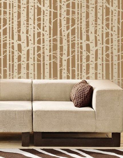 Birch Tree Wall Stencil