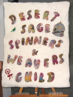 Our Felted Banner, a 2003 Guild Project along with the Yurt.