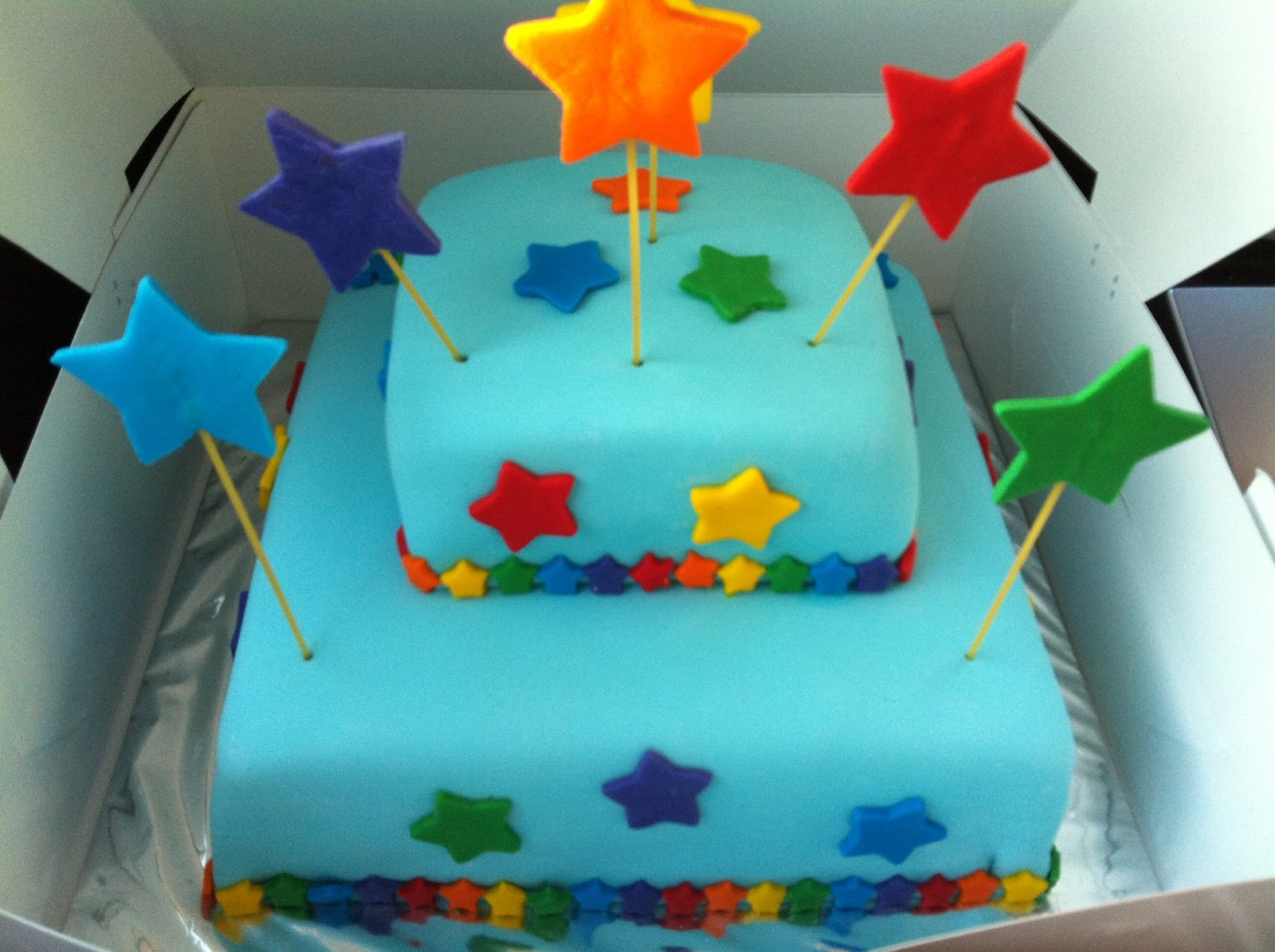 Baking Bees: Starry 1st Birthday Cake for Nathanael