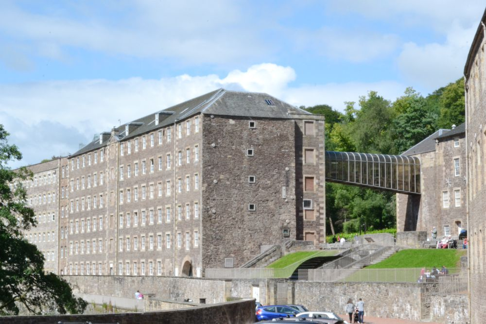 new lanark falls of clyde mill