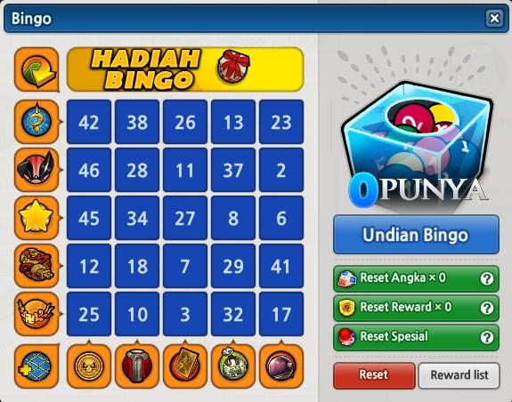 Event Bingo Lost Saga Juli 2014