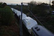 Photos Train Déchets nucléaires CASTOR , Valognes les 22-23/11/2011