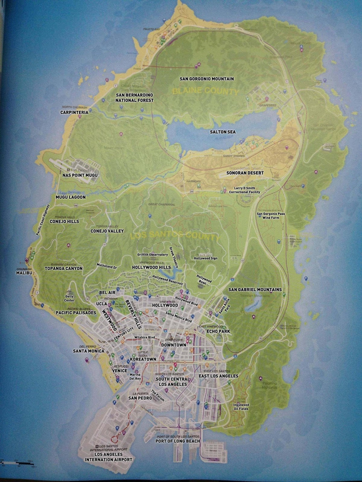 Gallery For Gt Gta 5 Los Santos Map With Key