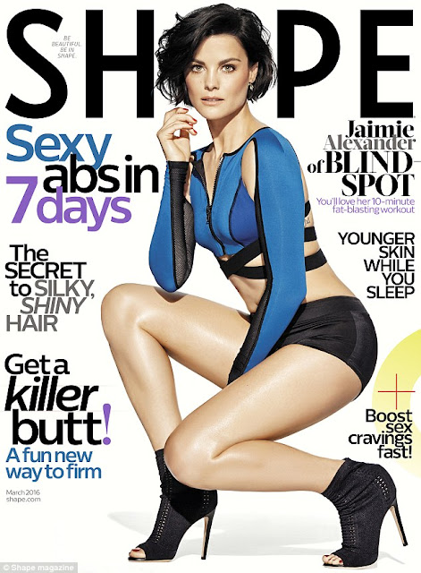 Actress, @ Jaimie Alexander - Shape Magazine, March 2016