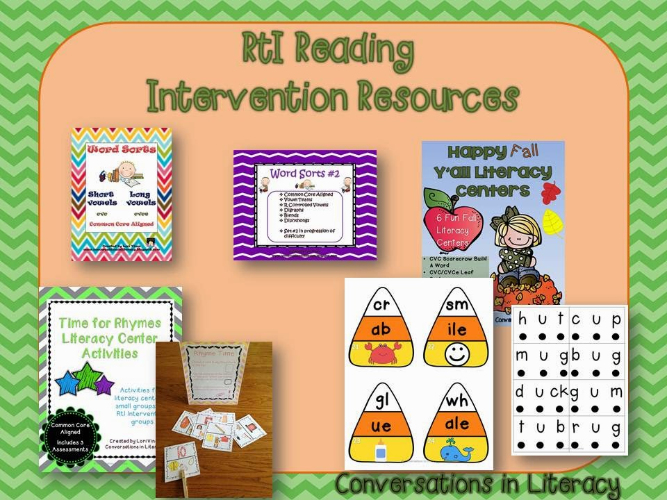 Reading Intervention Visual Plans and Resources