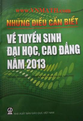 nhung dieu can biet tuyen sinh dai hoc 2013,