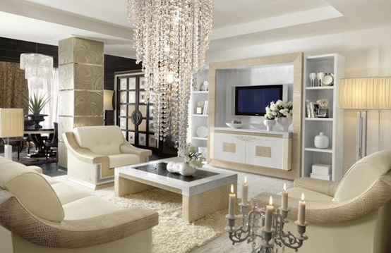 gorgeous light bright transitional style white living room crystal drop chandelier modern furniture