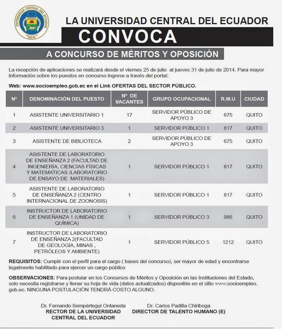 Facultad de ciencias psicol gicas concursos de m ritos for Concurso meritos docentes 2016