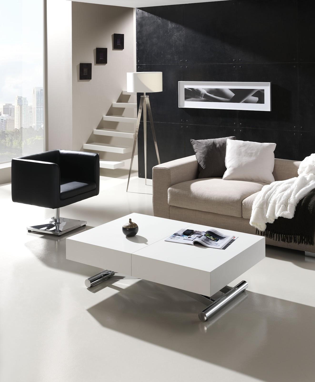 Mesas de centro elevables y extensibles a mesas de comedor - Mesas elevables y extensibles ...