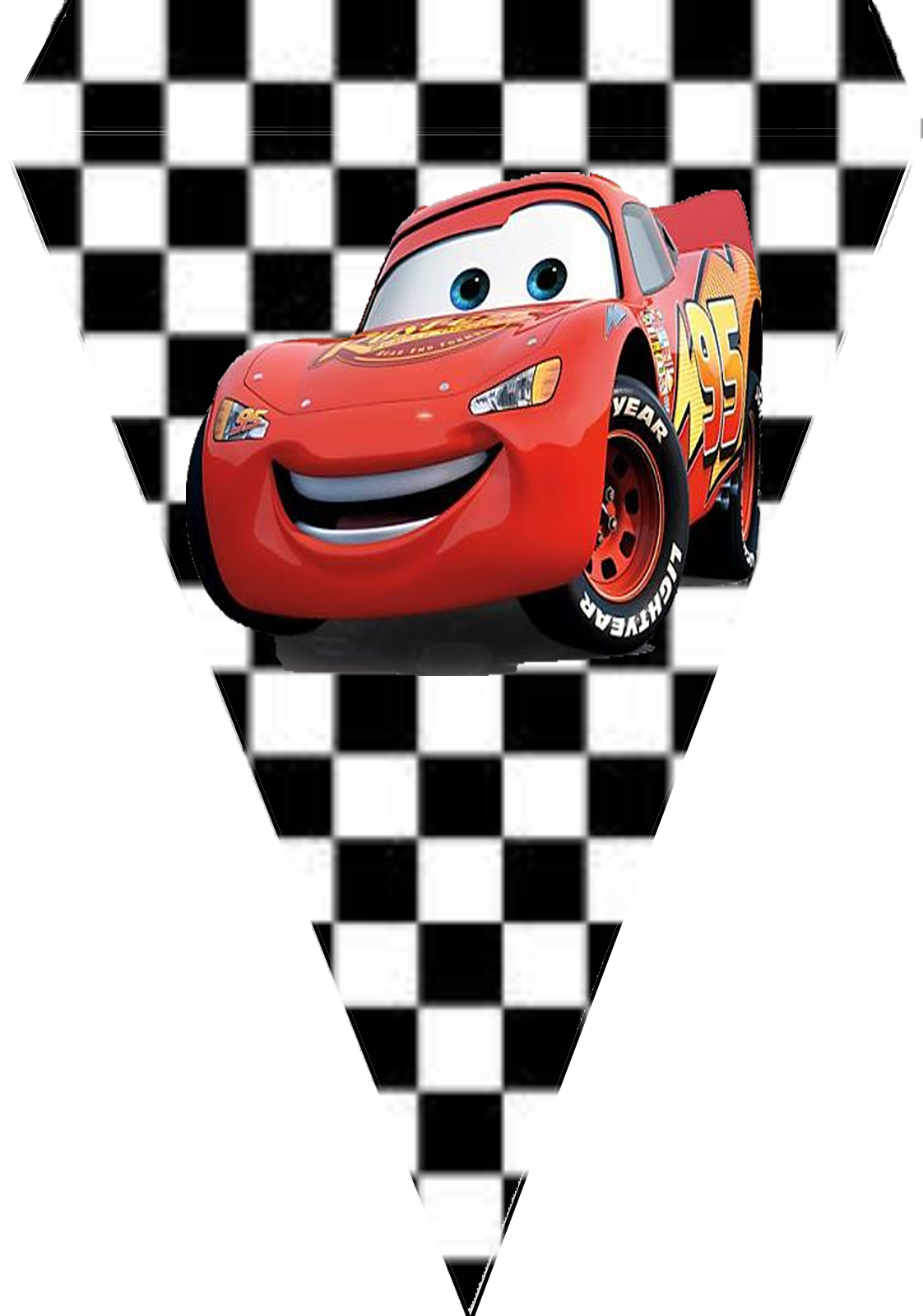bandeirinhas para festa carros disney