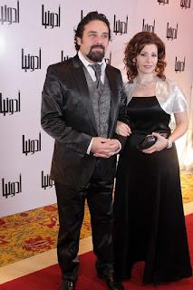 صورة الممثلة السورية يارا صبري وزوجها الممثل السوري ماهر صليبي