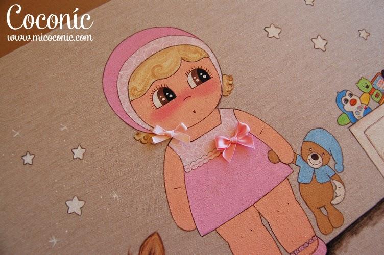 cuadro infantil personalizado niña decoración