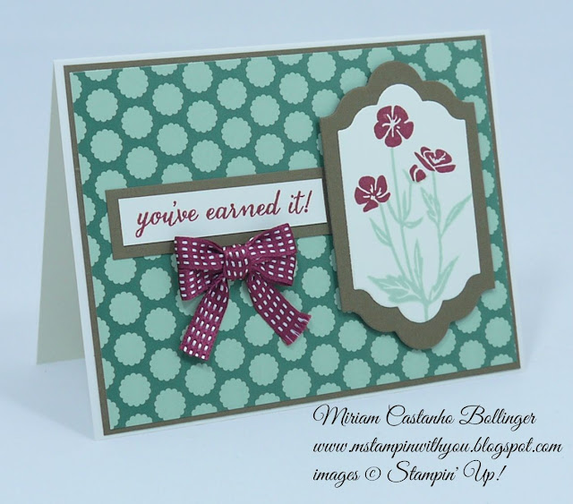 Miriam Castanho Bollinger, #mstampinwithyou, stampin up, demonstrator, ppa, retirement, gold soiree specialty dsp, wild about flowers, big shot, lot of labels framelits, su