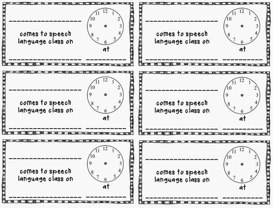 time for speech