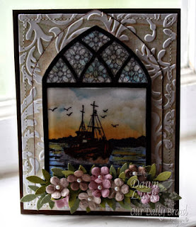 ODBD Products - ODBD Custom Cathedral Window and Border Die, Cathedral Window Marble, The Waves on the Sea