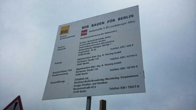 Baustelle S-Bahnhof Landsberger Allee, Landsberger Allee 106, 10369 Berlin, 20.09.2014