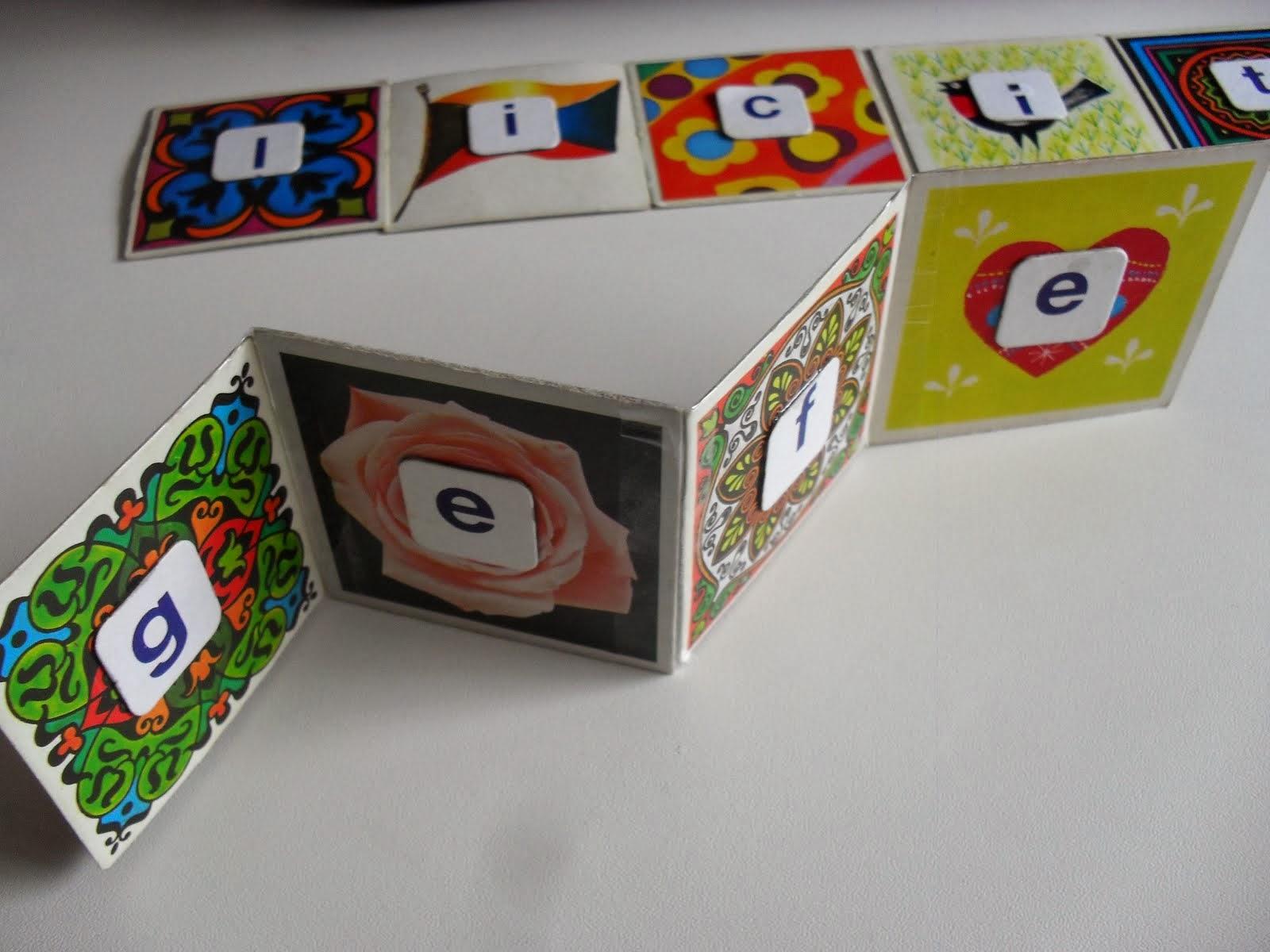 DIY slingerkaart van memorykaartjes