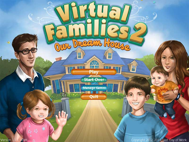 Virtual Families 2 Our Dream House Full Version PC Game