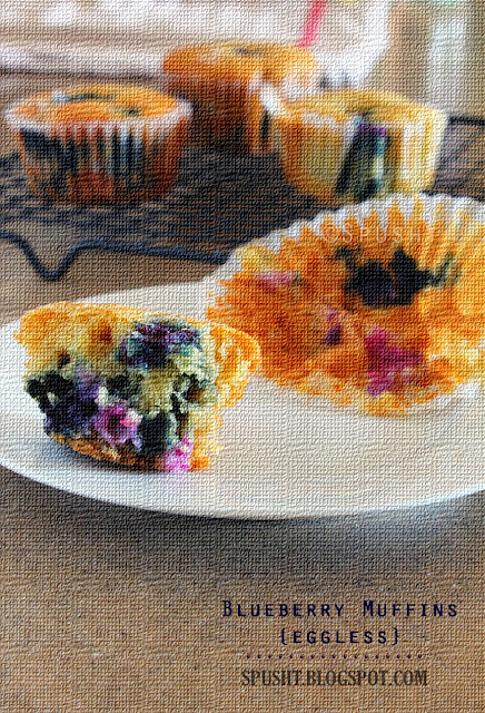Spusht | Eggless blueberry muffin recipe