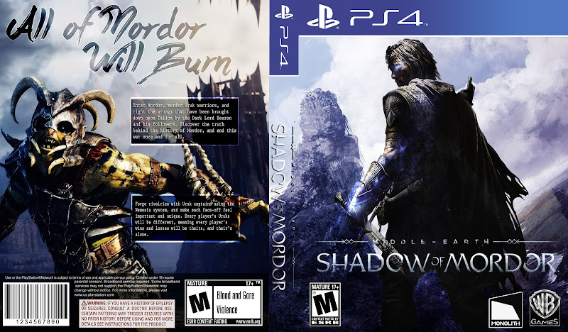 Capa Middle Earth Shadow Of Mordor PS4