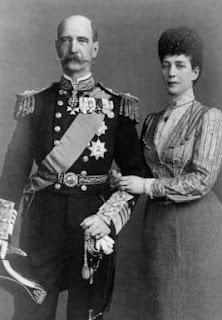 George I de Grèce et la reine Alexandra de Grande-Bretagne et d'Irlande