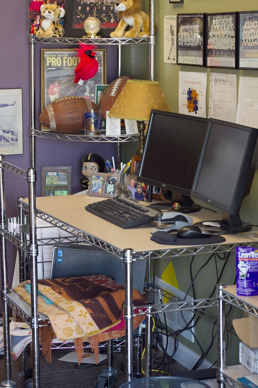 7 ways we use wire shelving around our office the shelving store rh theshelvingstore com Wood Shelving Wire Wood Shelving Wire