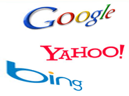 Google, Yahoo, Bing