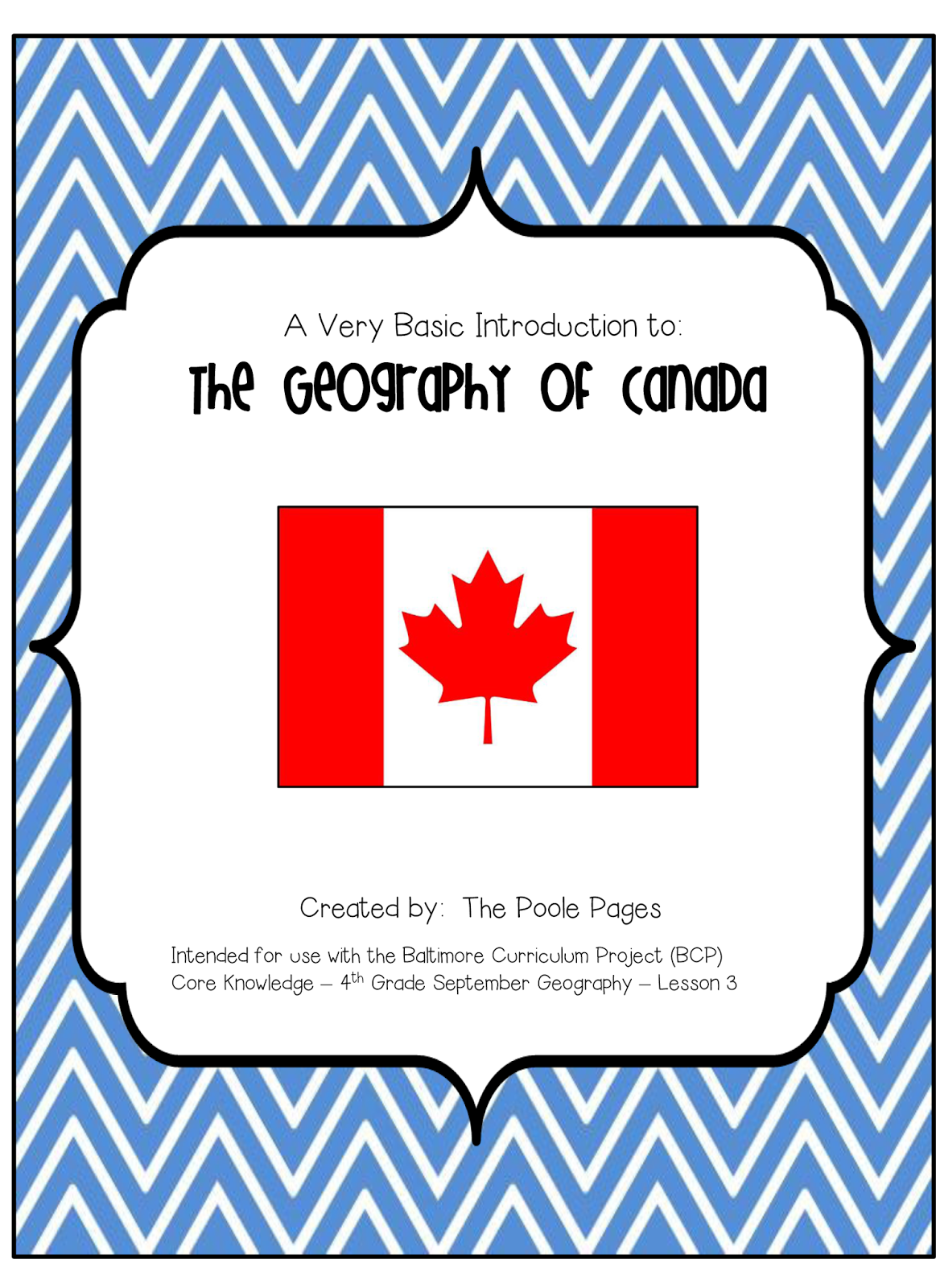 http://www.teacherspayteachers.com/Product/Geography-of-Canada-1334602