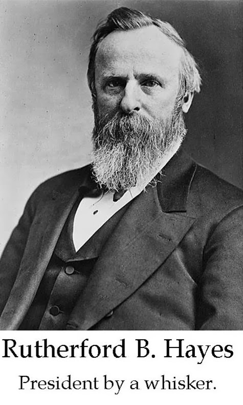 an analysis of the electoral dispute between rutherford b hayes and samuel j tilden in 1876 Samuel j tilden (1814-1886) served as governor of new york, 1875-1876, and was the democratic nominee for the presidency in 1876 tilden 1876 he won the popular vote and collected 184 electoral votes to 165 for republican candidate rutherford b hayes 20 electoral votes remained uncounted and in dispute.