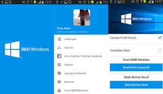 BBM Mod Windows Style v2.9.0.51 Apk Free Sticker Gratis