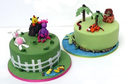 fondant cake fondanttorte Bauernhoftorte dschungeltorte