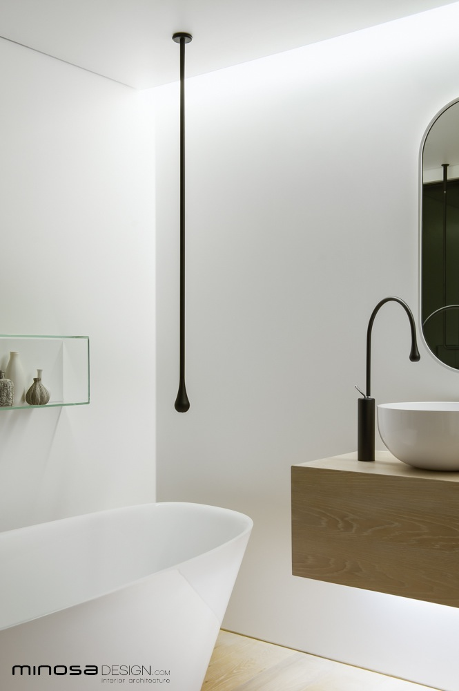 Minosa clean simple lines slick bathroom design by minosa for Clean bathroom designs