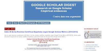 Google Scholar Metrics (2010-2014)
