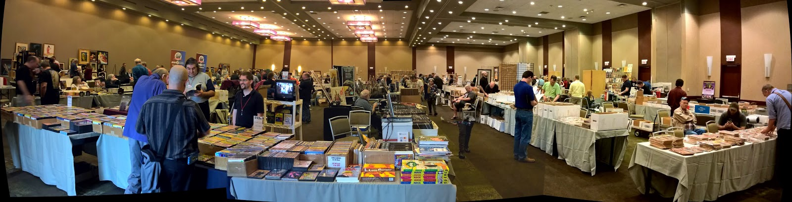 Dealer's room at Windy City Pulp and Paper 2015