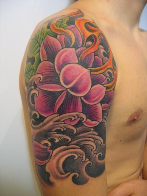 Tatuajes de flores japonesas -6