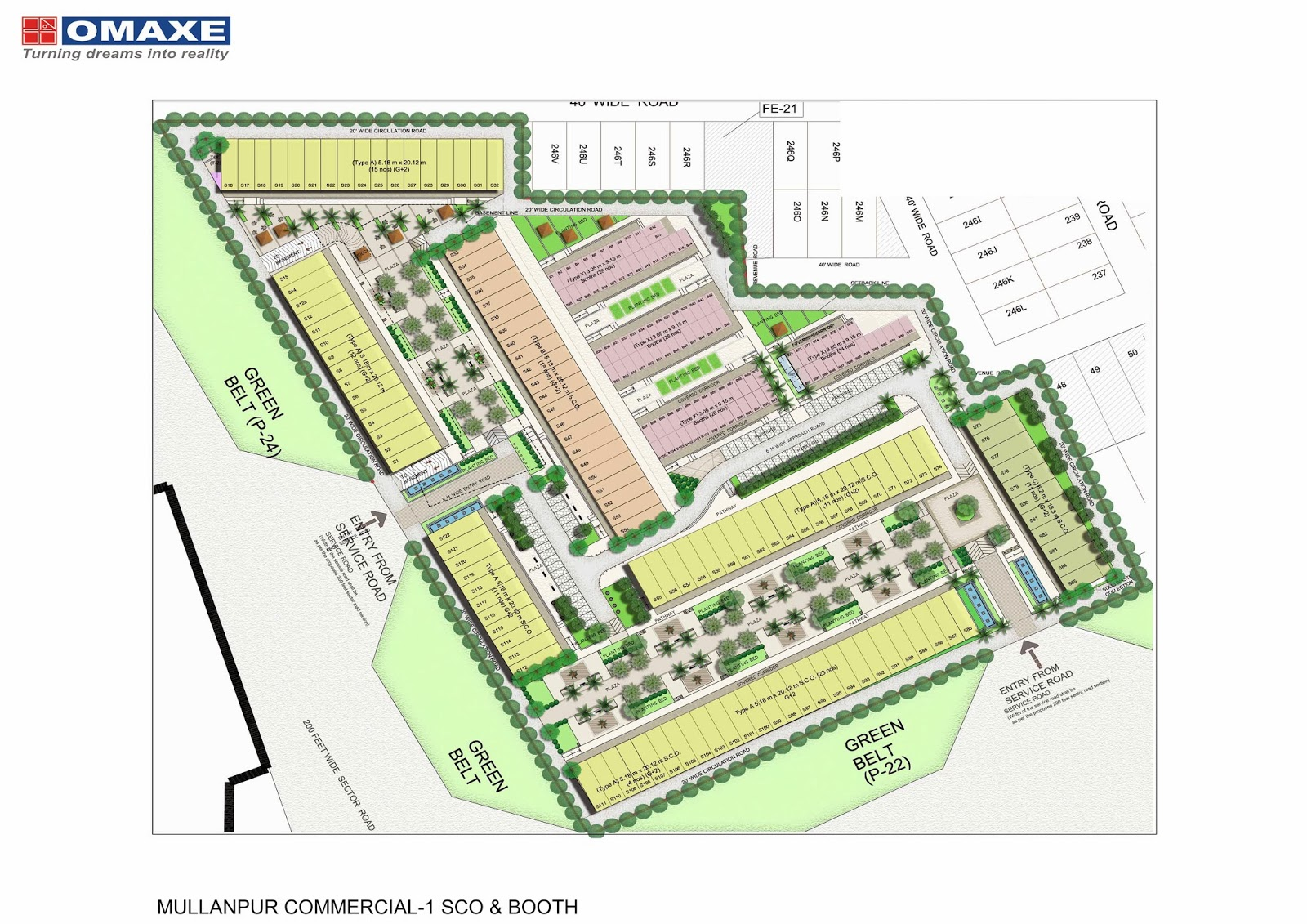 omaxe commercial property layout map mullanpur