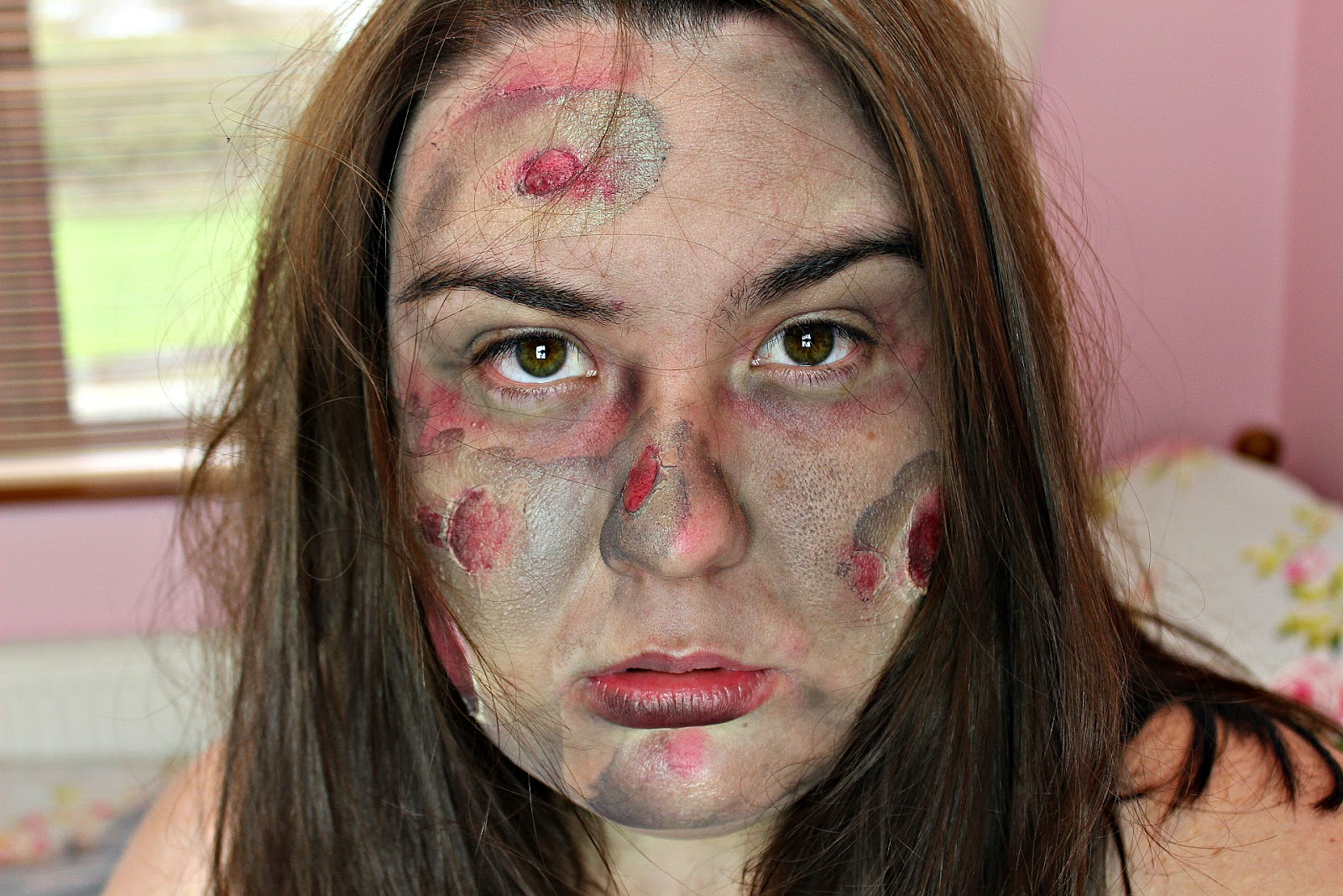 Easy: Burned Zombie Style Halloween Makeup Tutorial