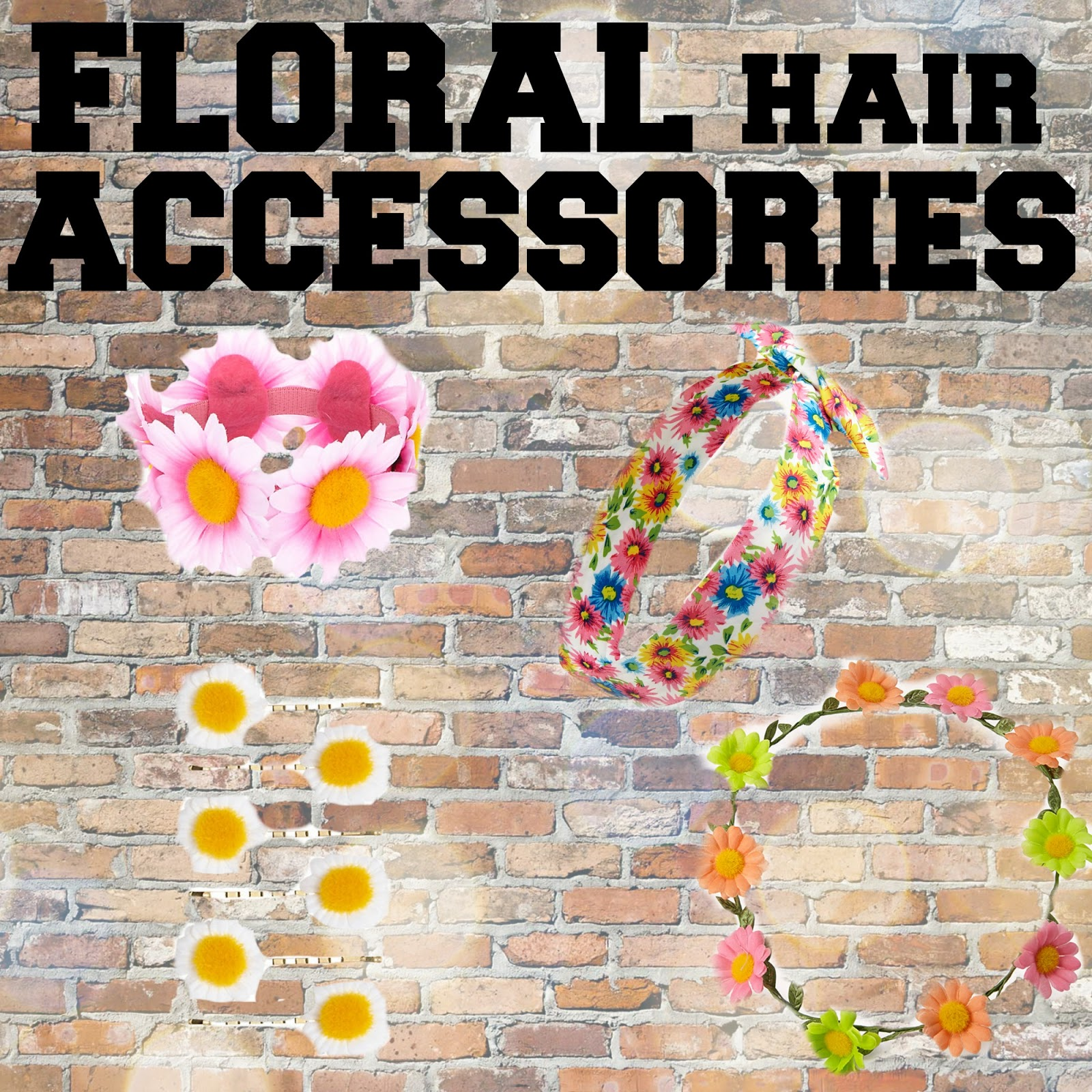 SS14 essentials floral hair accessories forever21 river island