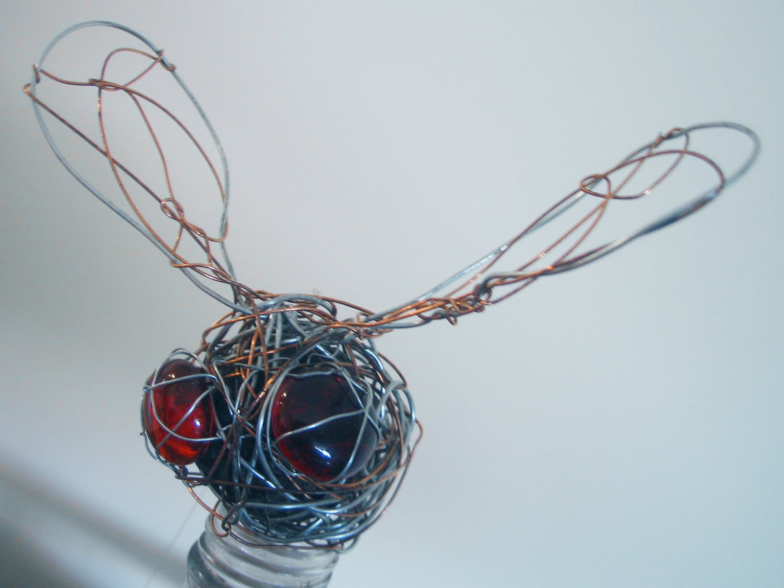 Christy Schollen: Hanging mobile/ Wire Bugs