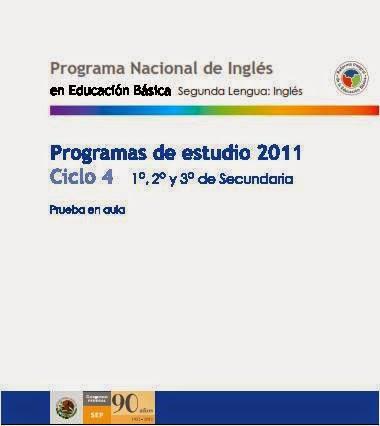 PROGRAMA DE ESTUDIO INGLÉS