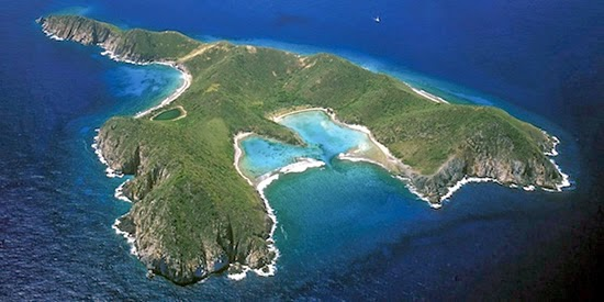 258 Acre Private Island for Sale in the British Virgin Islands (BVI) - Aerial Shot