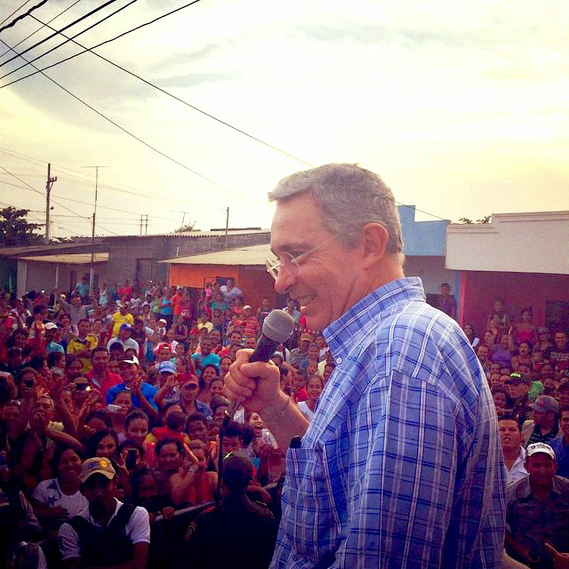 Álvaro Uribe Vélez en Monteria