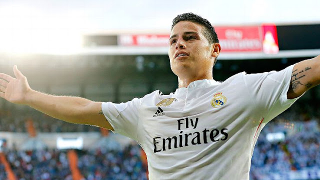 james, real madrid, video, goal, real betis, amazing
